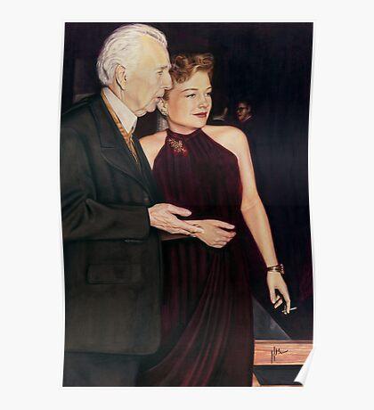 Frank Lloyd Wright and Anne Baxter @ www.KeithMcDowellArtist.com  Poster