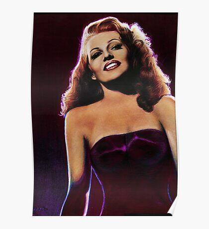 Rita Hayworth Color Pencil @ www.KeithMcDowellArtist.com Poster