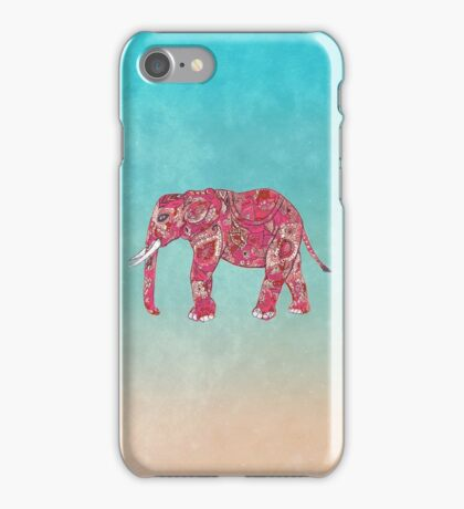 Whimsical Colorful Elephant Tribal Floral Paisley iPhone Case/Skin