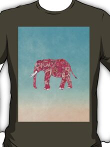 Whimsical Colorful Elephant Tribal Floral Paisley T-Shirt
