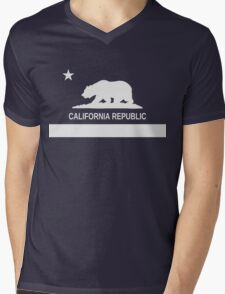 California Republic Mens V-Neck T-Shirt