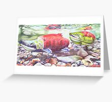 Salmon on the Move Greeting Card