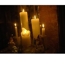 Candles' Warmth Photographic Print
