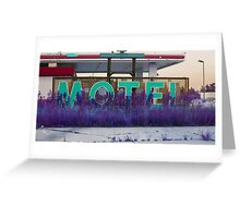 motel vacancy Greeting Card