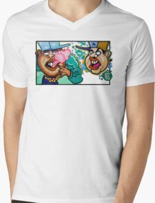 Bubble Bro's Mens V-Neck T-Shirt