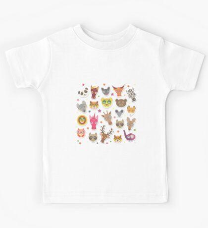 funny animals muzzle Kids Tee