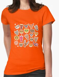 funny animals muzzle Womens Fitted T-Shirt