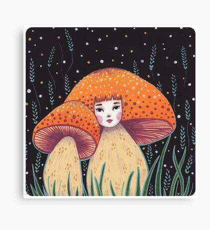 Uncommon Variety - Copper Mushroom Canvas Print