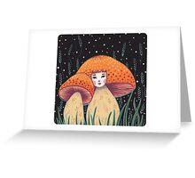 Uncommon Variety - Copper Mushroom Greeting Card
