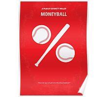 No191 My Moneyball minimal movie poster Poster