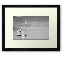 Ski Lift to Heaven Framed Print