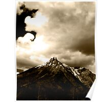 Sepia Mountain Poster