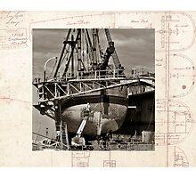 Restoration, Endevour in dry dock, Garden Island Photographic Print