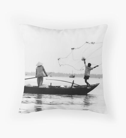 The fisherman's launch Throw Pillow