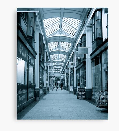 Arcade in perspective Canvas Print