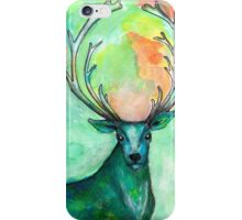 Blue Green Stag iPhone Case/Skin