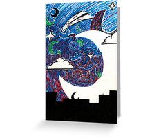 Moonlight Over the Desert Greeting Card