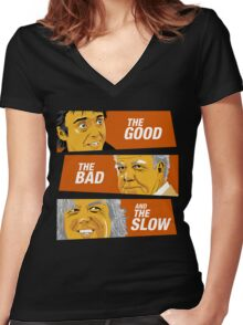 The Good the Bad and the Slow Women's Fitted V-Neck T-Shirt