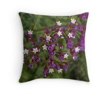 Statice Blooms Throw Pillow