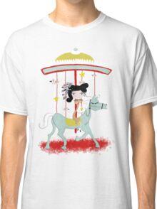 Carousel colorful whimsical magic horse ride doll tshirt Classic T-Shirt