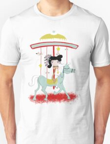 Carousel colorful whimsical magic horse ride doll tshirt Unisex T-Shirt