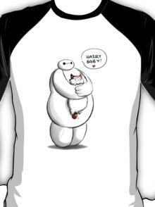 Baymax And Hairy baby Big Hero Custom Art T-Shirt