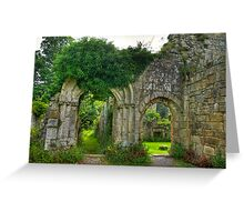 Ruined Doorway Greeting Card