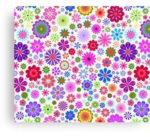 Garden Colorful Flowers  Canvas Print