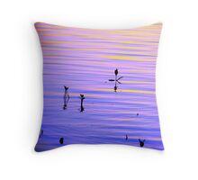 Purple Ripples Throw Pillow