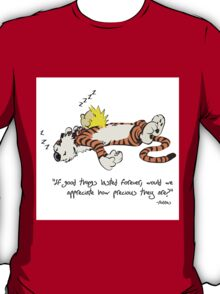 Calvin And Hobbes Quote Funny Sleeping T-Shirt