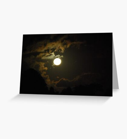 A new night begins Greeting Card