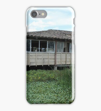 Broken Down Building on a Lake iPhone Case/Skin