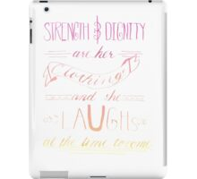 She Is Clothed With Strength and Dignity -Color iPad Case/Skin