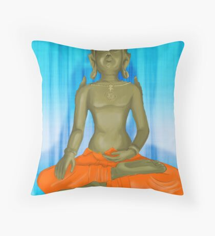 The Enlightened one in Light and shade Throw Pillow
