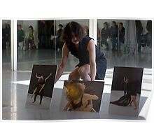 Sonia Mota dancing at the vernissage Poster