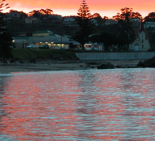 Evening at the Beach, Penguin, Tasmania, Australia. Sticker
