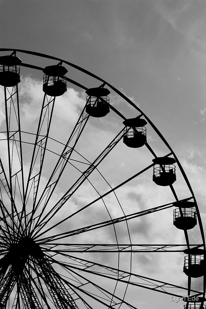 Fun Fair Wheel in Black & White by Lynn Ede