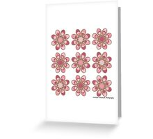 Cotton Candy Foot Flowers Greeting Card