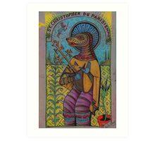 St Christopher Du Parisienne ( St Dog ) Art Print
