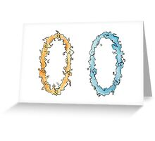 Portal Japanese Watercolor Style Greeting Card