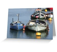 Anchored Fishing Boats Greeting Card