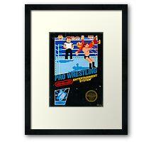 NES PRO WRESTLING Framed Print
