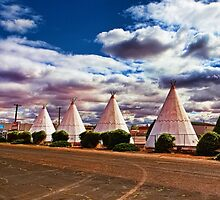 Route 66 Wigwam Motel by Warren Paul Harris