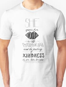 She Opens Her Mouth with Wisdom Unisex T-Shirt