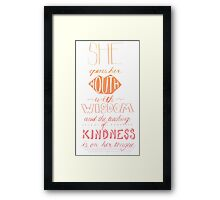 She Opens Her Mouth with Wisdom -Color Framed Print