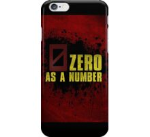 Borderlands - Zero As A Number (Zer0) iPhone Case/Skin