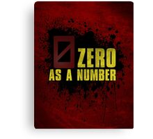 Borderlands - Zero As A Number (Zer0) Canvas Print