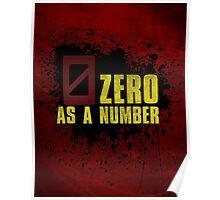 Borderlands - Zero As A Number (Zer0) Poster