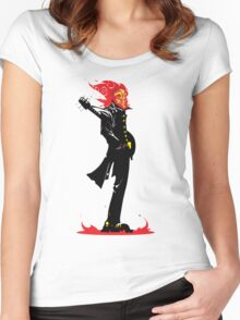 Meet me at the Crossroads and I'll make you a deal... Women's Fitted Scoop T-Shirt