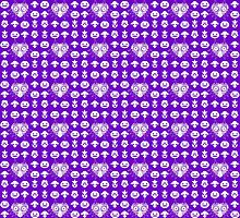 Majora's Pattern - Majora Purple by B-Shirts